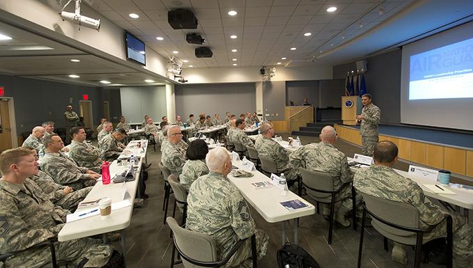 ANGRC commander addresses Chiefs' Executive Course