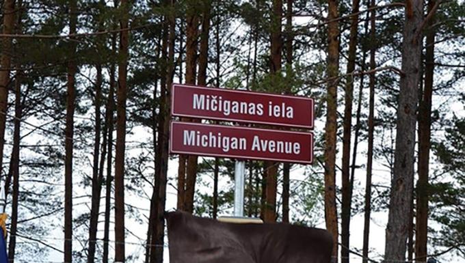 Latvia dedicates 'Michigan Ave.' to honor state partnership