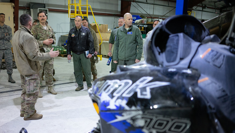 Alaska Air Guardsmen Brief Air Combat Command Officials