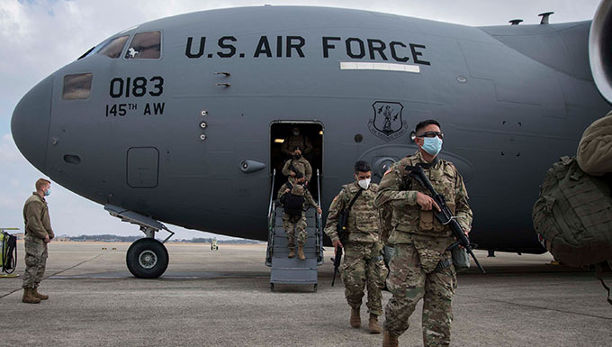Historic Air National Guard airlift brings troops to DC