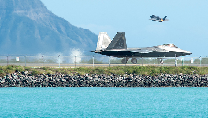 Stealth fighters combine airpower in new fighter exercise