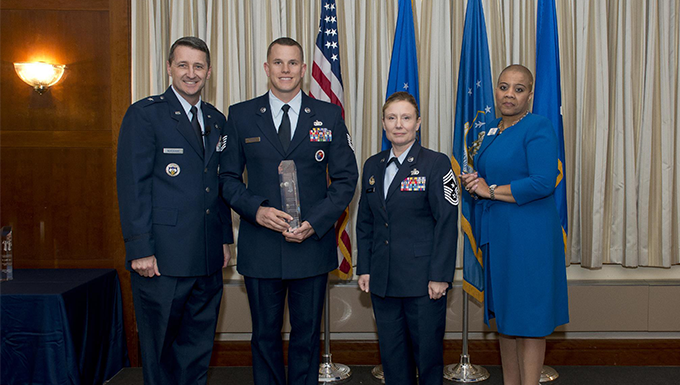 Noncommissioned Officer of the Year, Tech. Sgt. Joseph Hunter, TEC