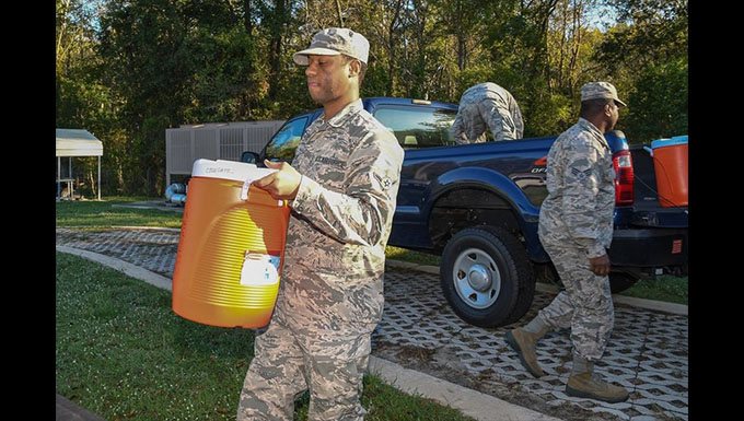 116th ACW deploys to distribute supplies for Hurricane Michael relie