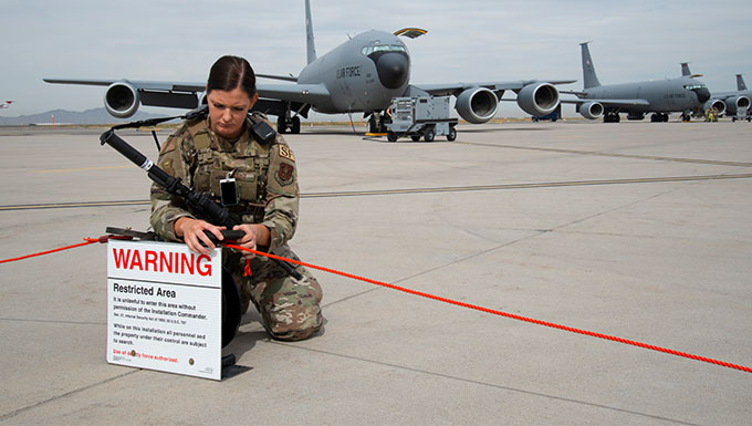 151st SFS creates new portable cordon system with Squadron Innovation Funds